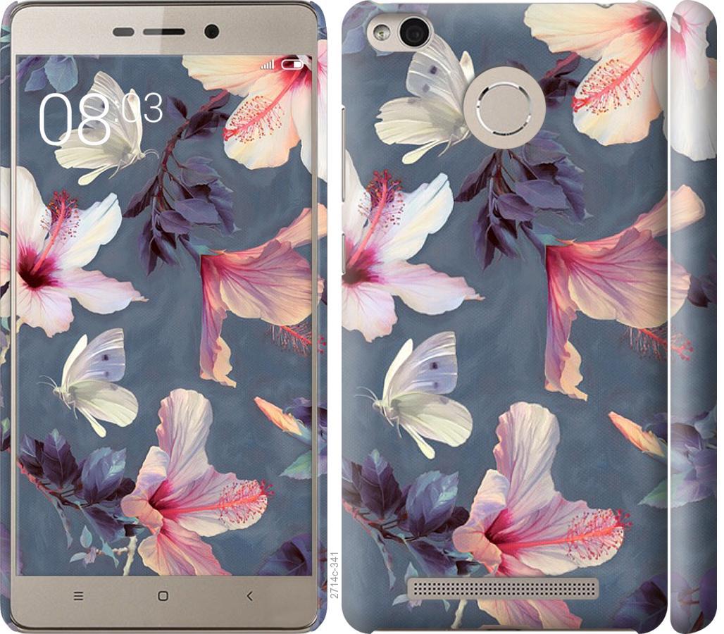 Чехол на Xiaomi Redmi 3s Нарисованные цветы