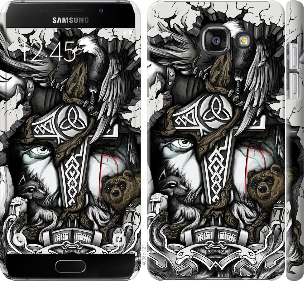 Чехол на Samsung Galaxy A7 (2016) A710F Тату Викинг