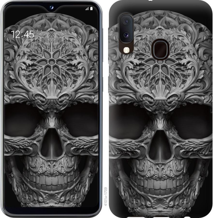 Чохол на Samsung Galaxy A20e A202F skull-ornament
