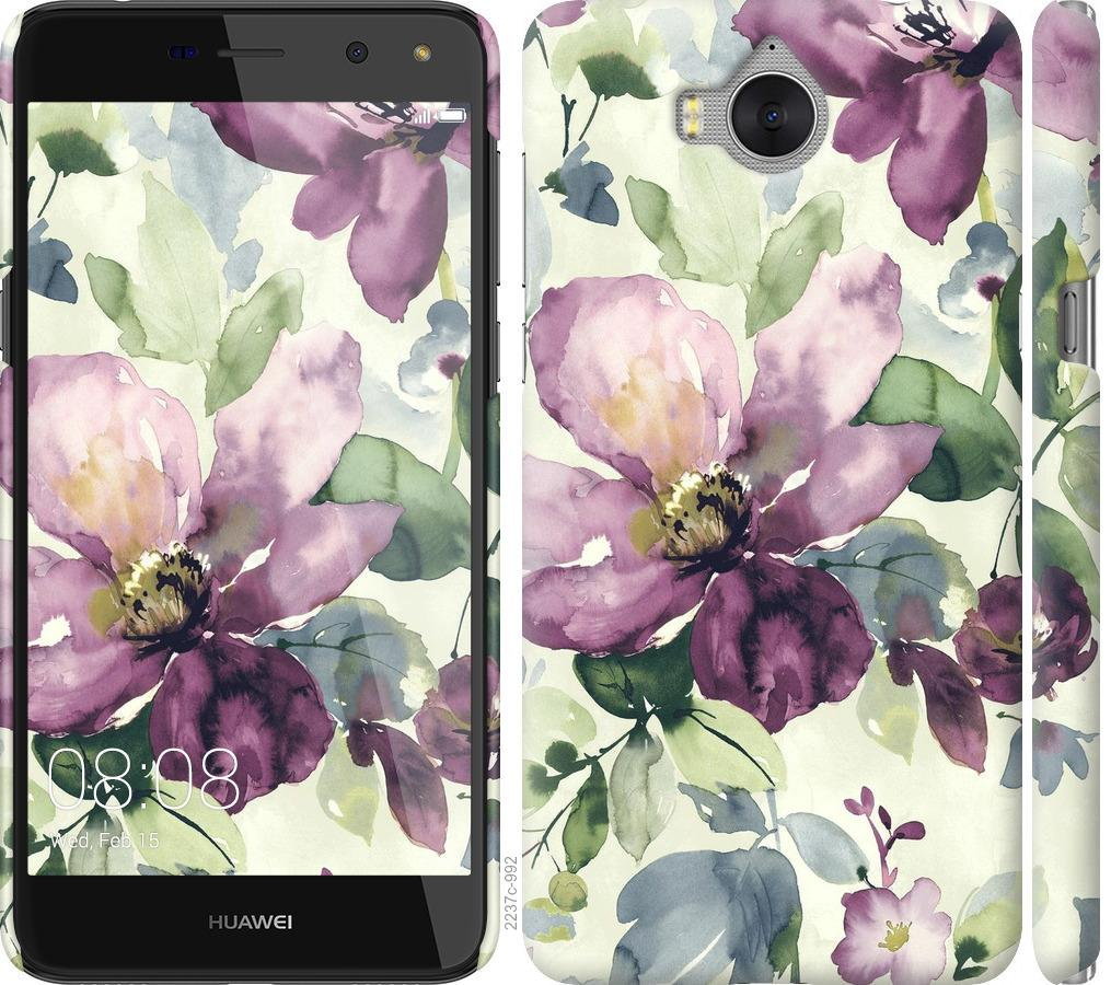 Чехол на Huawei Y5 2017 Цветы акварелью