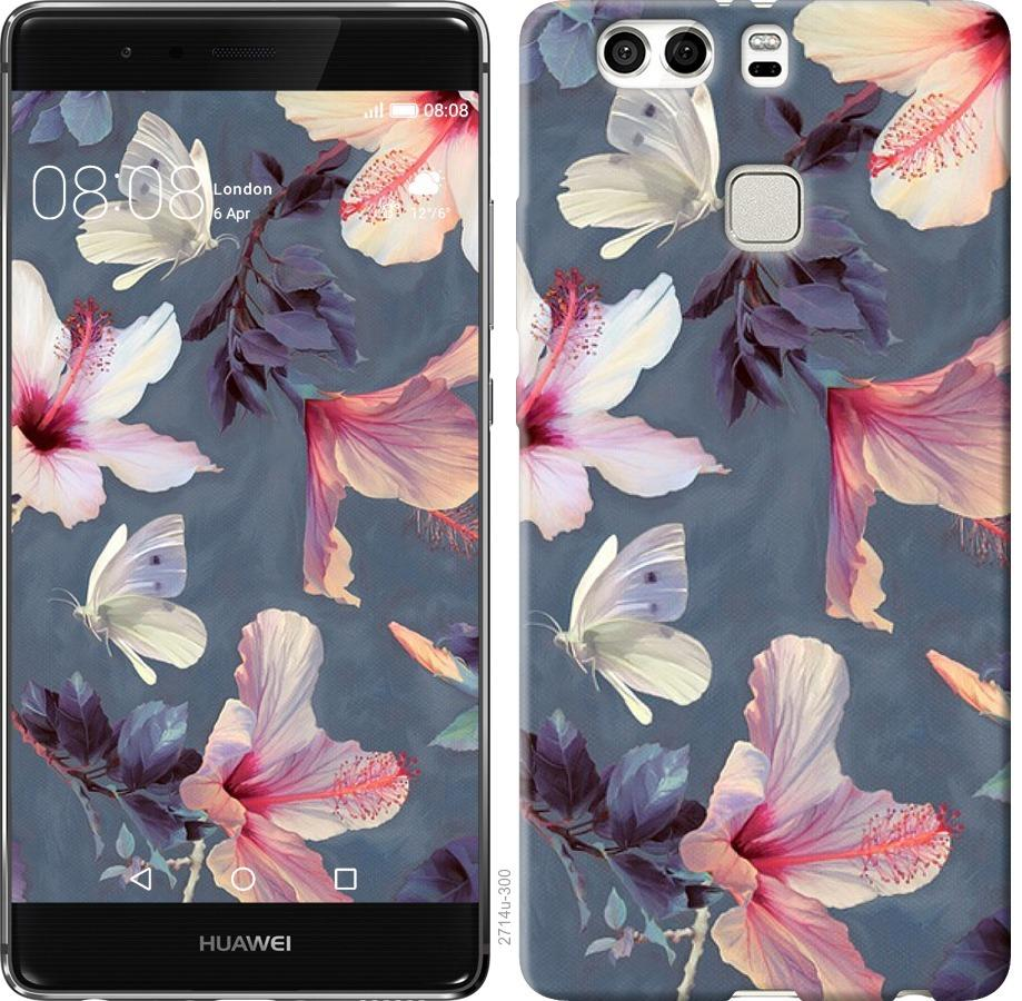 Чехол на Huawei P9 Plus Нарисованные цветы