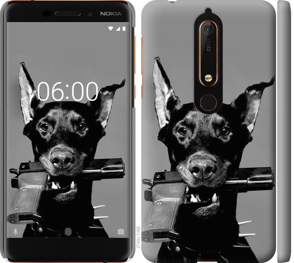 Чехол на Nokia 6.1 Доберман