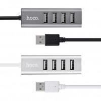 Переходник HUB Hoco HB1 USB to USB 2.0 (4 port) (1m)