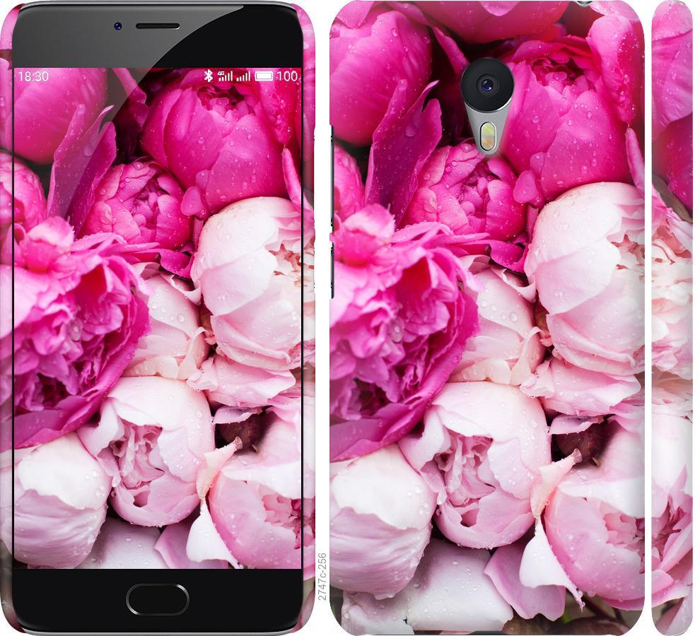 Чехол на Meizu M3 Note Розовые пионы