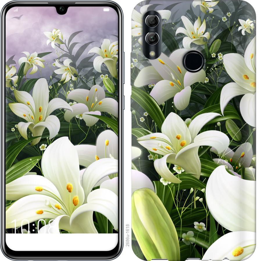 Чехол на Realme 3 Pro Белые лилии