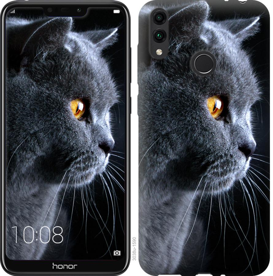 Чехол на Huawei Honor 8C Красивый кот