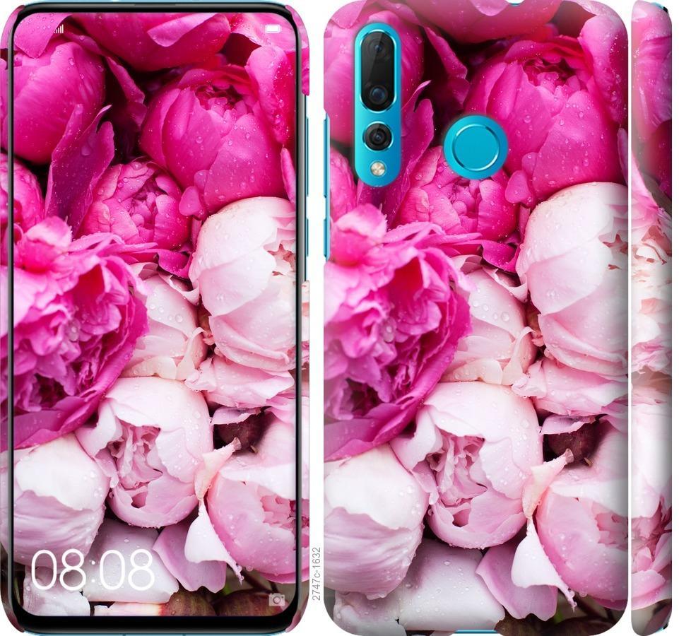 Чехол на Huawei Nova 4 Розовые пионы