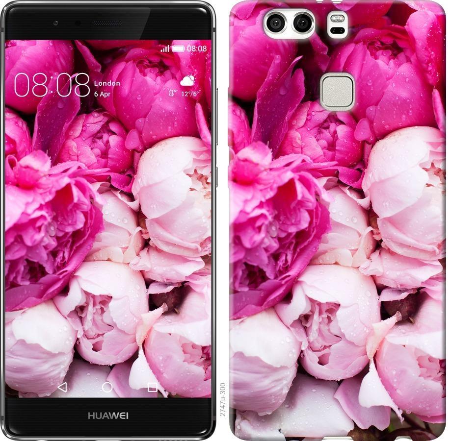 Чехол на Huawei P9 Plus Розовые пионы