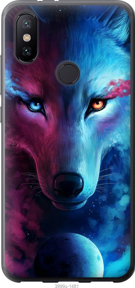 Чехол на Xiaomi Mi Mix 3 Арт-волк