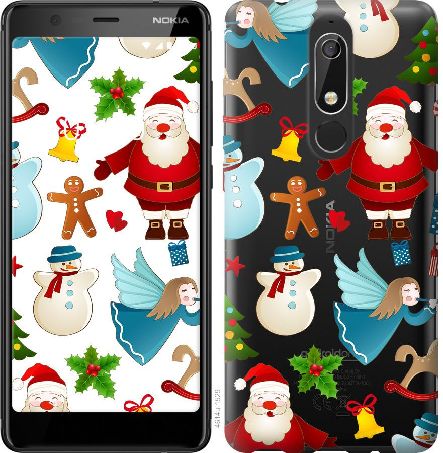 Чехол на Nokia 5.1 Новогодний 1