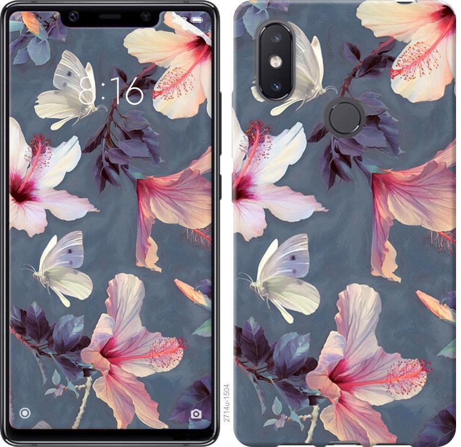 Чехол на Xiaomi Mi8 SE Нарисованные цветы