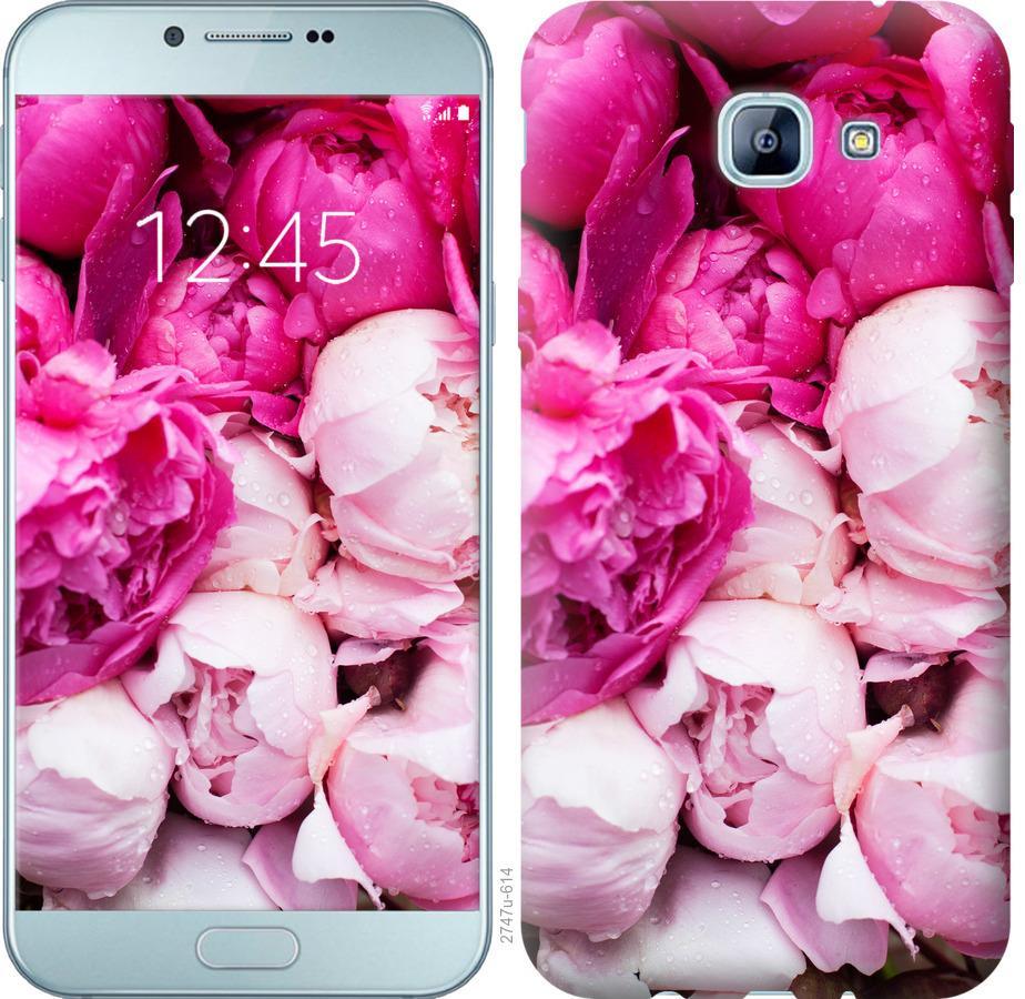 Чехол на Samsung Galaxy A8 (2016) A810 Розовые пионы