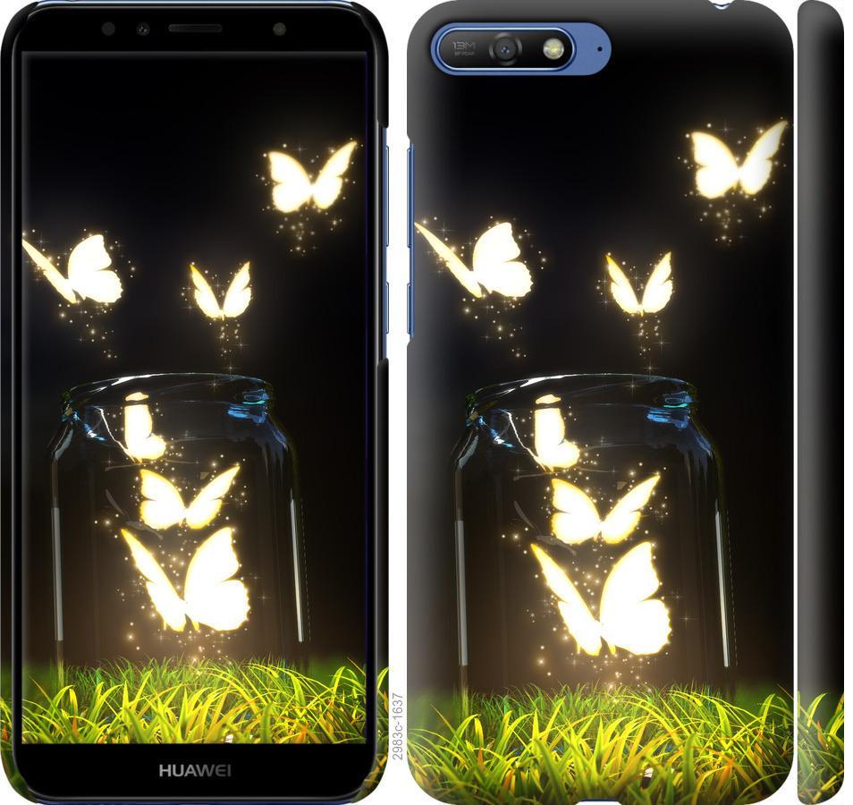 Чехол на Huawei Y6 2018 Бабочки