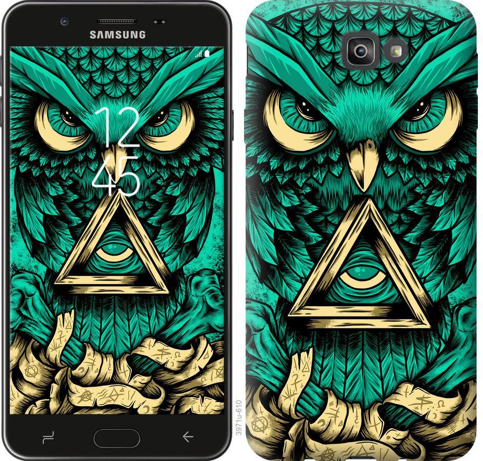Чехол на Samsung Galaxy J7 Prime Сова Арт-тату