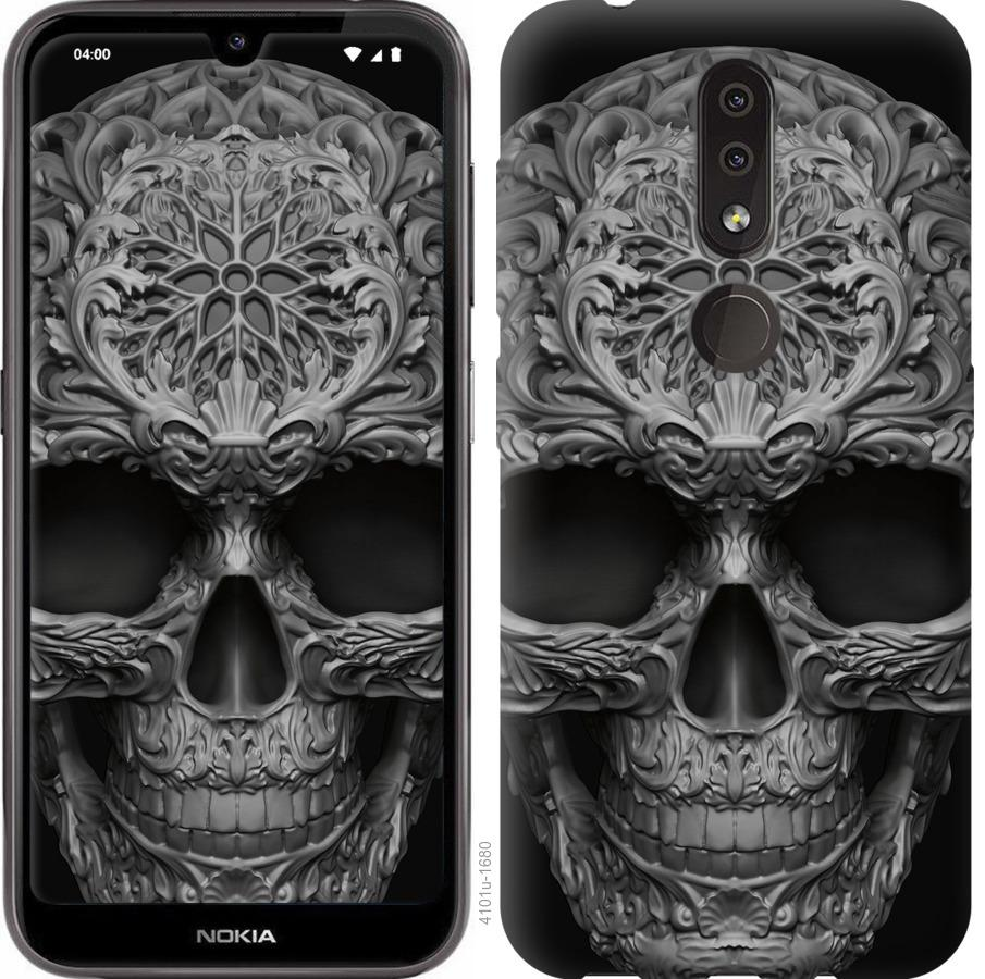 Чехол на Nokia 4.2 skull-ornament