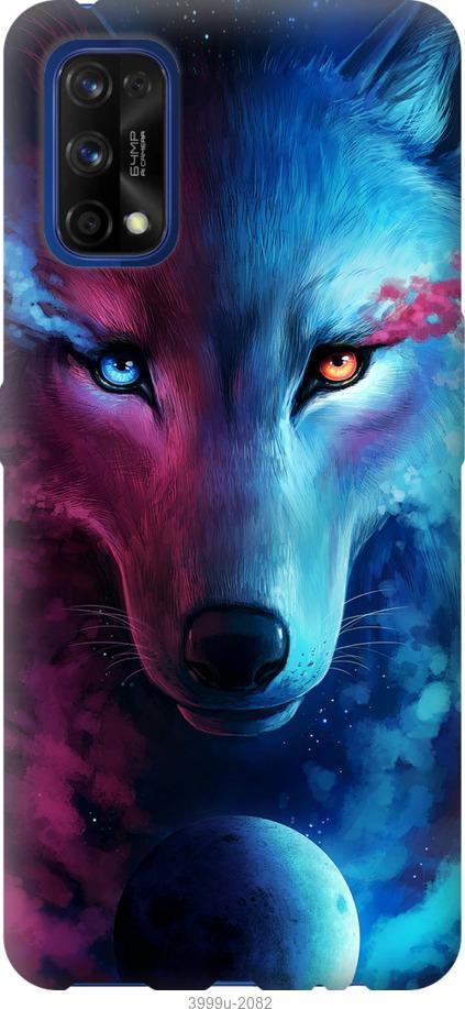 Чехол на Realme 7 Pro Арт-волк