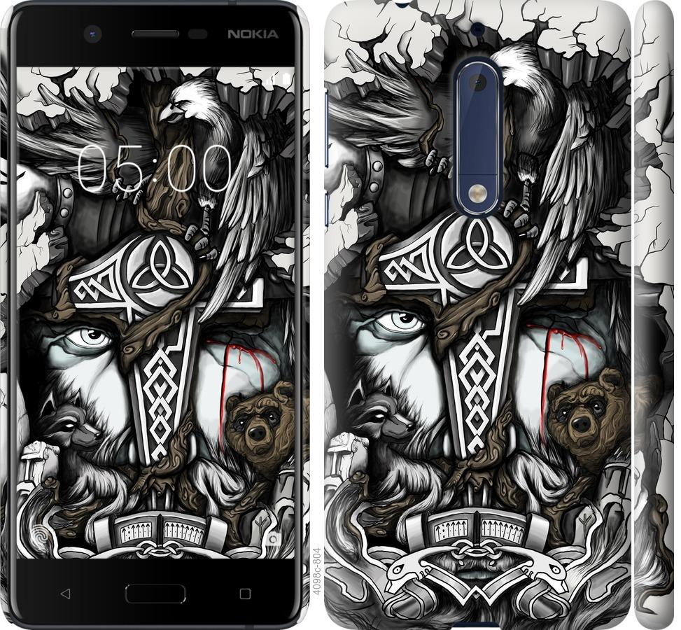 Чехол на Nokia 5 Тату Викинг