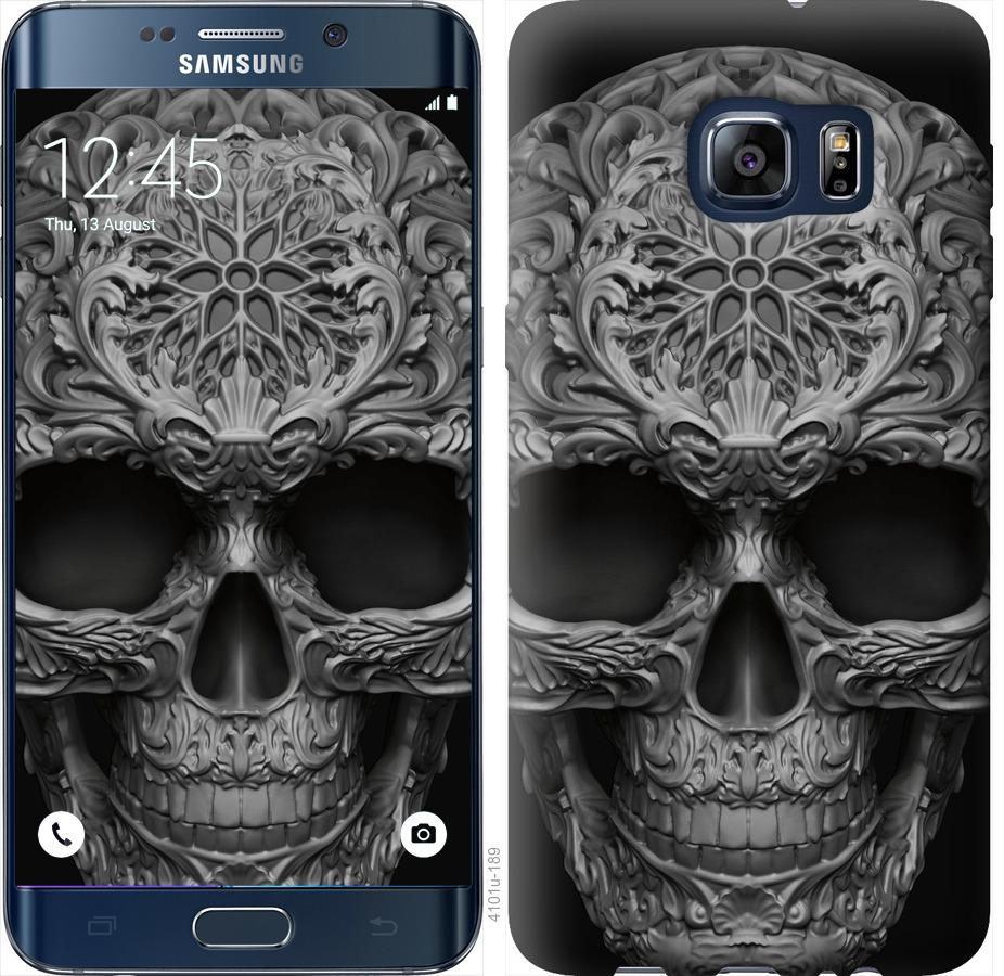 Чехол на Samsung Galaxy S6 Edge Plus G928 skull-ornament