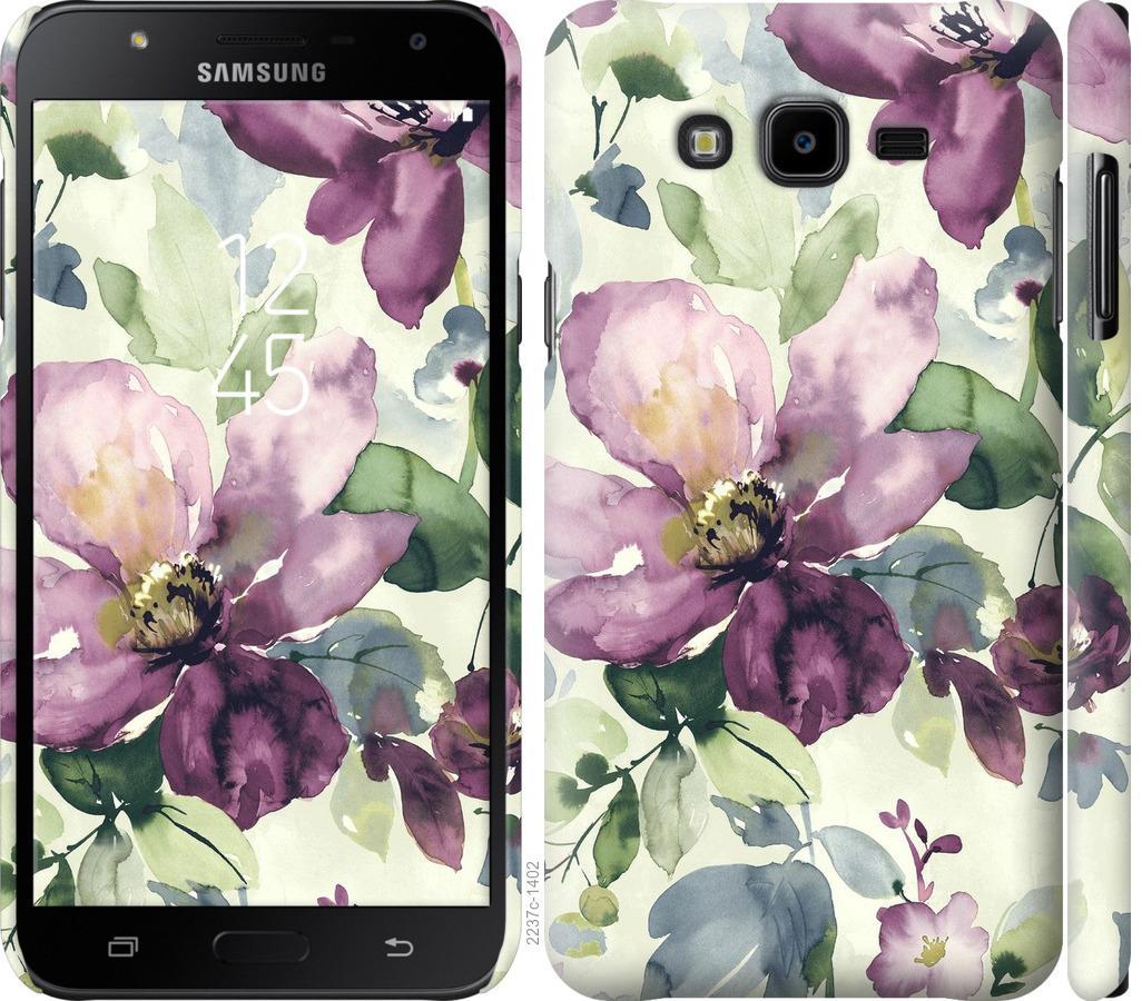 Чехол на Samsung Galaxy J7 Neo J701F Цветы акварелью