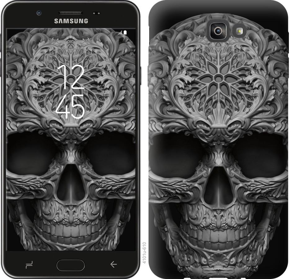 Чехол на Samsung Galaxy J7 Prime skull-ornament