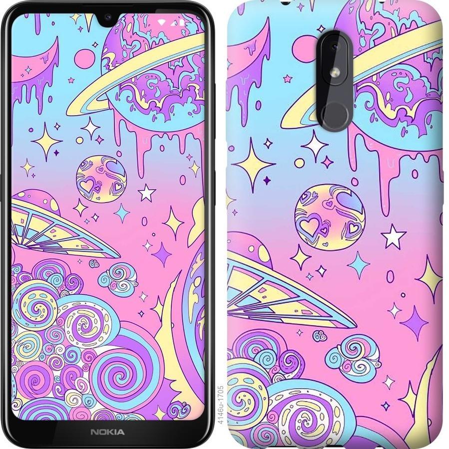 Чехол на Nokia 3.2 Розовая галактика