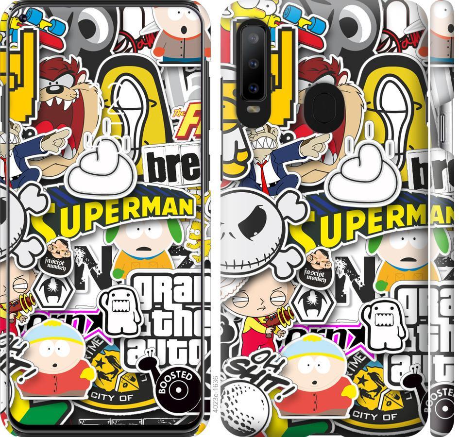 Чехол на Samsung Galaxy A8S Popular logos