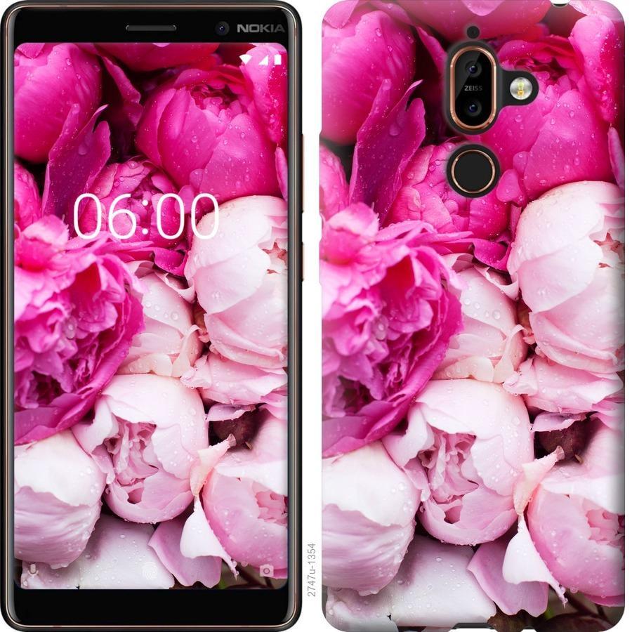 Чехол на Nokia 7 Plus Розовые пионы