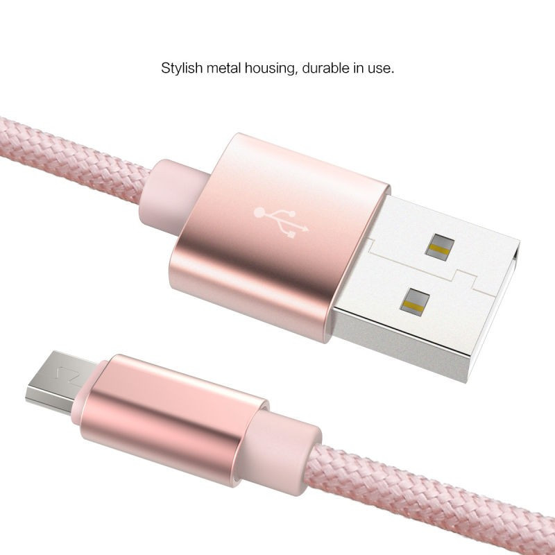 Фото Кабель ROCK (Metal & nylon) USB to MicroUSB (1 цвет) на itsell.ua
