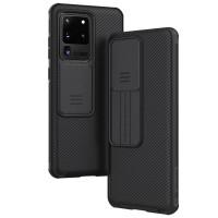 Карбоновая накладка Nillkin Camshield (шторка на камеру) для Samsung Galaxy S20 Ultra
