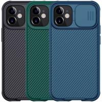 "Карбоновая накладка Nillkin Camshield (шторка на камеру) для Apple iPhone 12 mini (5.4"")"