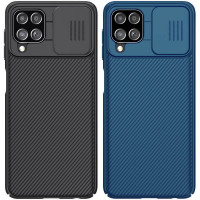 Карбоновая накладка Nillkin Camshield (шторка на камеру) для Samsung Galaxy A22 4G / M32