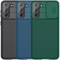 Карбоновая накладка Nillkin Camshield (шторка на камеру) для Samsung Galaxy S21+