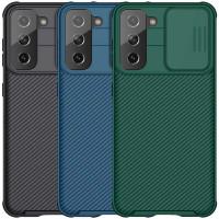 Карбоновая накладка Nillkin Camshield (шторка на камеру) для Samsung Galaxy S21