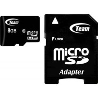 Карта пам'яті Team microSDHC 8GB Card Class 10 + SD adapter