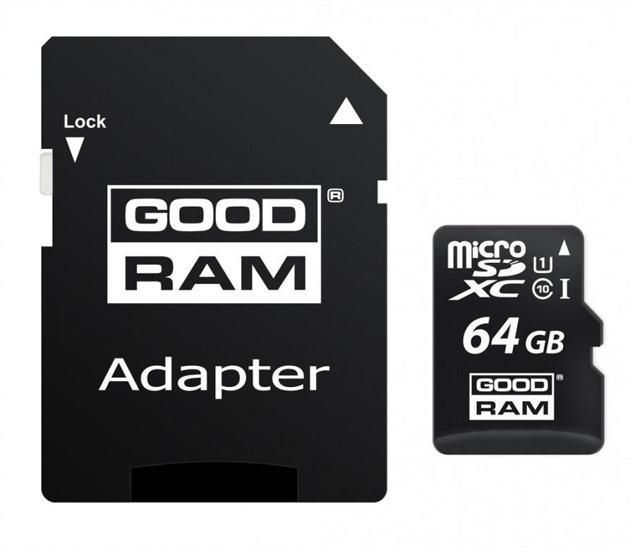 Карта памяти GoodRam microSDXC UHS-1 64 GB Class 10 + SD adapter