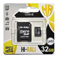 Карта памяти Hi-Rali microSDHC (UHS-1) 32 GB class 10 (с адаптером)