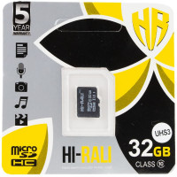 Карта памяти Hi-Rali microSDXC (UHS-3) 32 GB Card Class 10 без адаптера