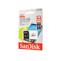 Карта памяти SanDisk microSDHC 64 GB Card Class 10 + SD adapter