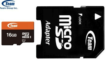 Карта памяти Team microSDHC 16 GB Card Class 10 + SD adapter 300x