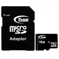 Карта памяти Team microSDHC 16 GB Card Class 10 + SD adapter