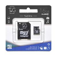 Карта пам'яті T&G microSDHC 16GB class 4 (з адаптером)