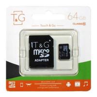 Карта памяти T&G microSDHC 64GB class 10 (с адаптером)