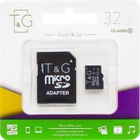 Карта памяти T&G microSDXC (UHS-1) 32 GB class 10 (c адаптером)