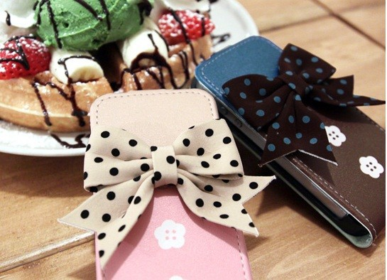 Кожаный чехол (флип) Happymori Sweet You Series для Apple iPhone 5/5S на itsell.ua