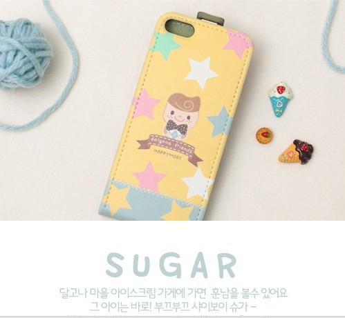 Кожаный чехол Happymori Dalgona Friends Series для Apple iPhone 5/5S на itsell.ua