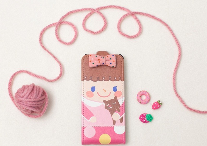 Купить Кожаный чехол Happymori Dalgona Friends Series для Apple iPhone 5/5S на itsell.ua