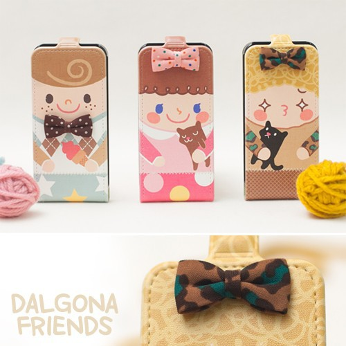 Купить Кожаный чехол Happymori Dalgona Friends Series для Apple iPhone 5/5S за 149 грн