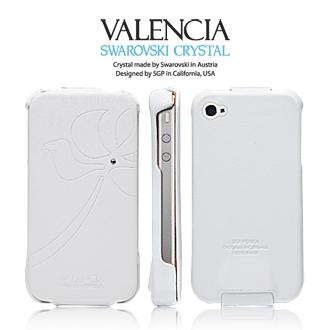 Фото Кожаный чехол SGP Leather Case Valencia Swarovski Series для iPhone 4 на itsell.ua