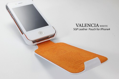 Купить Кожаный чехол SGP Leather Case Valencia Swarovski Series для iPhone 4 на itsell.ua