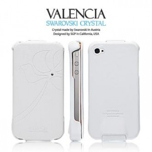 Купить Кожаный чехол SGP Leather Case Valencia Swarovski Series для iPhone 4 за 559 грн